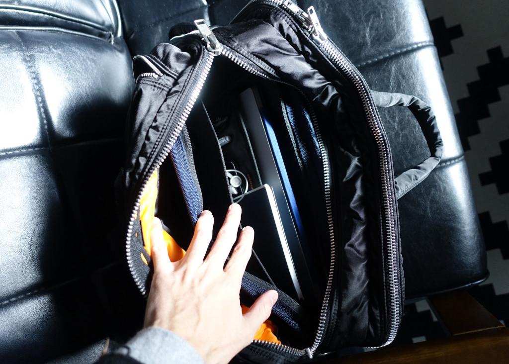 インナーバッグがあると鞄の中が整理されます