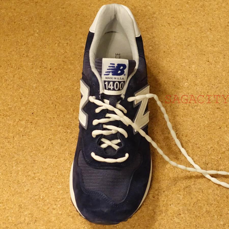 ニューバランス1400ほどけない靴紐