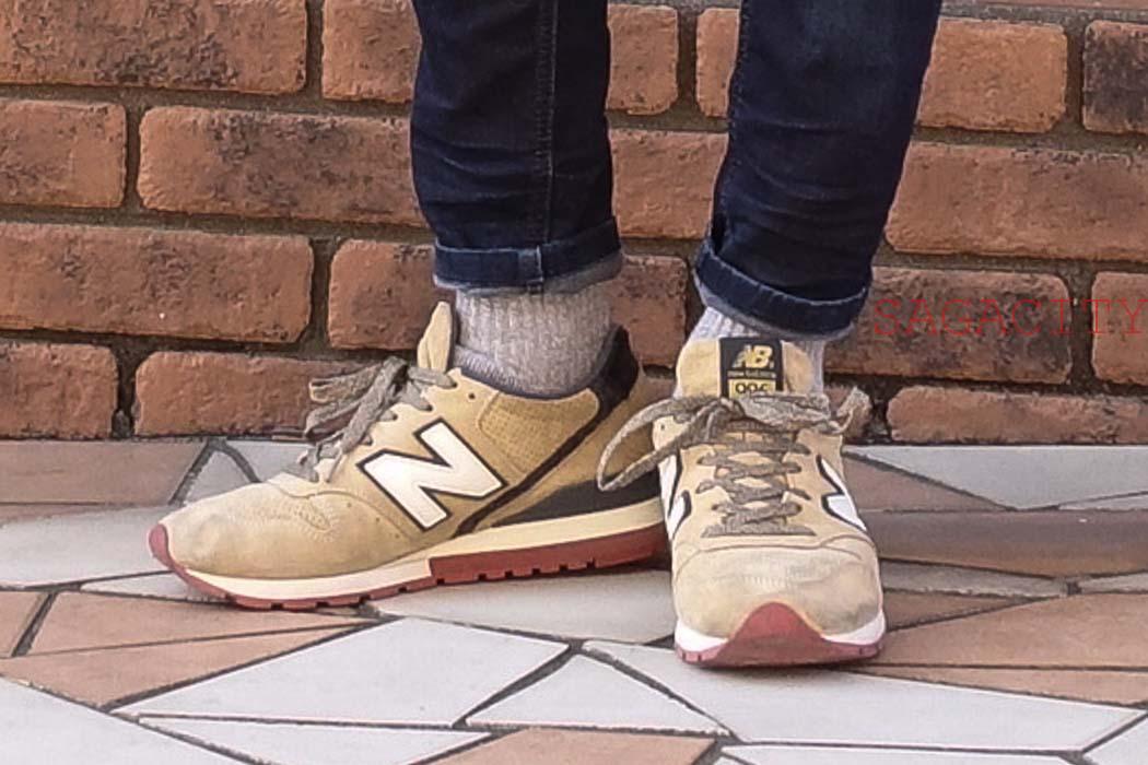 ニューバランス996と厚手の靴下