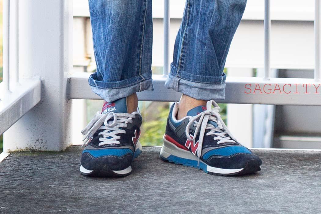 ニューバランス997と見えない靴下
