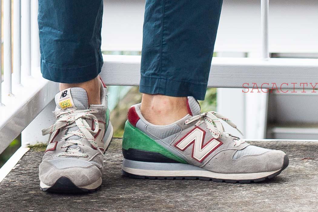 ニューバランス996と見えない靴下