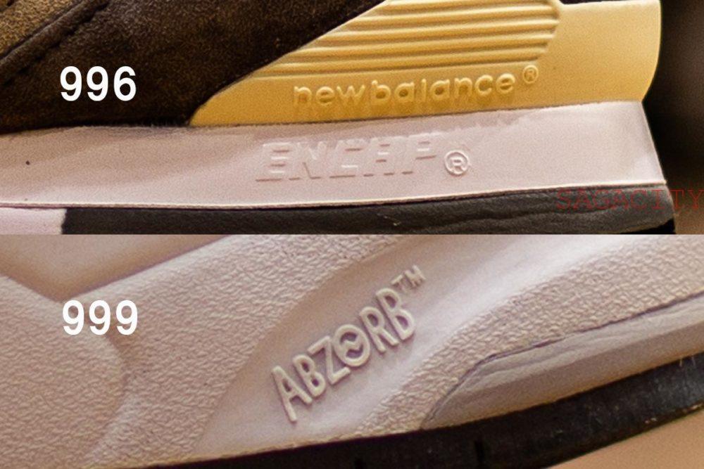 ニューバランス996と999のソールの種類