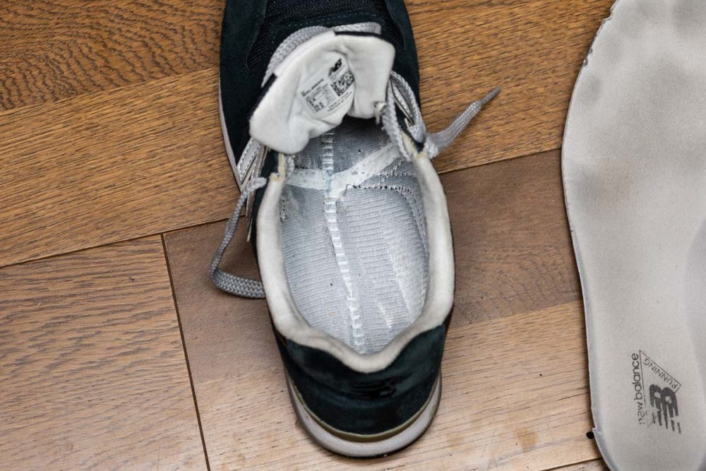 ニューバランス996靴の中