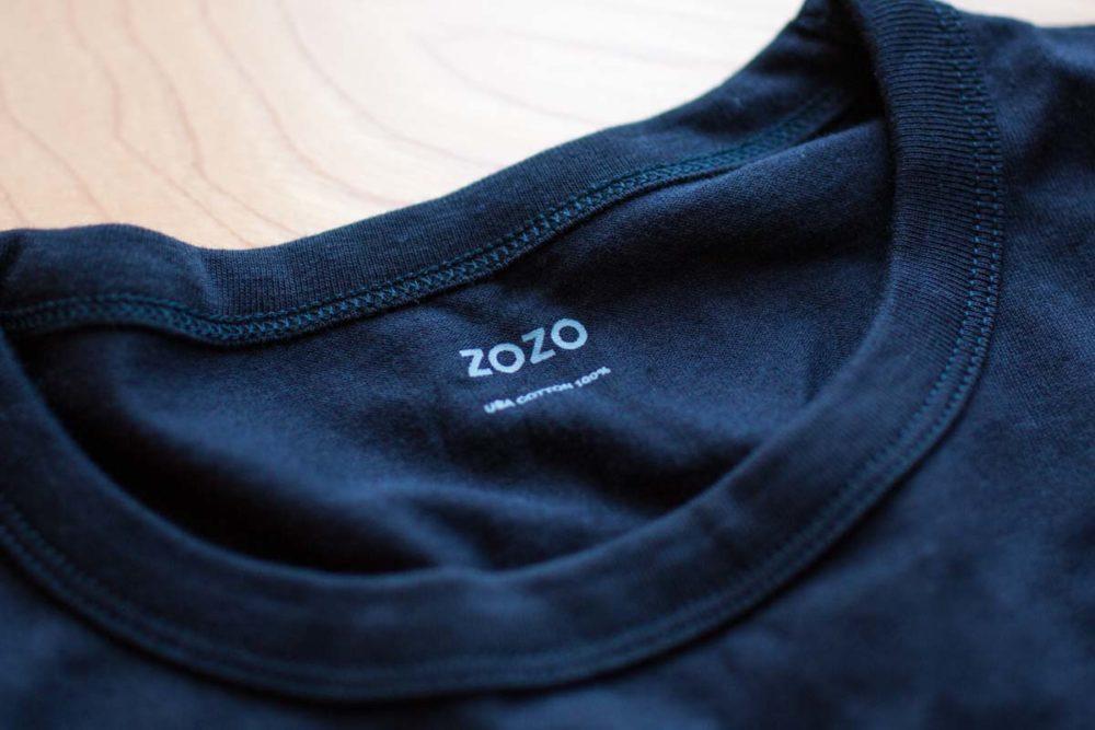 ZOZOスーツで頼んだTシャツ