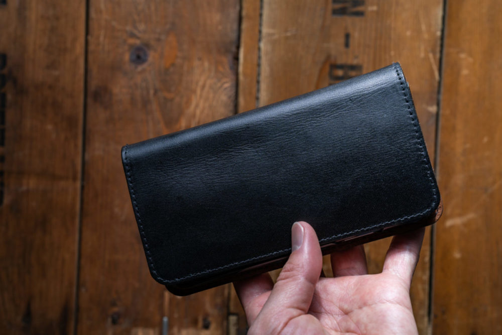 iPhoneXS 財布ケースレザー