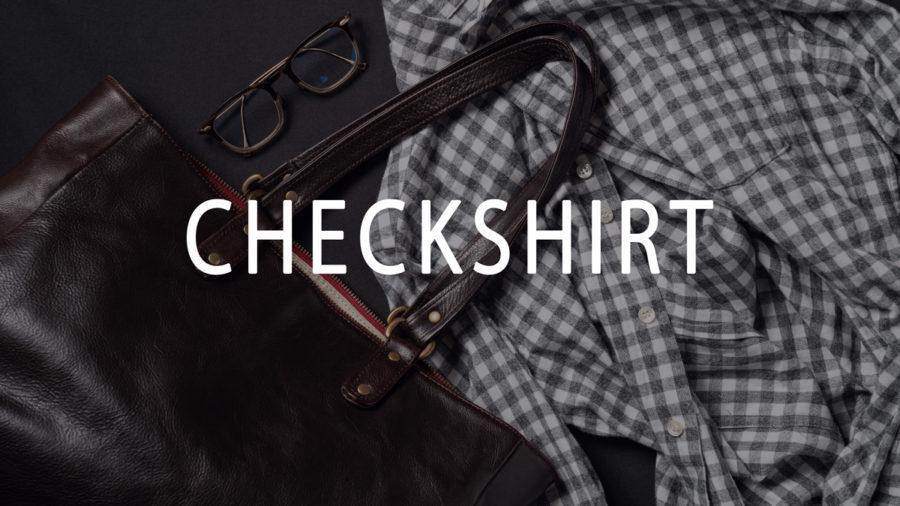 メンズ チェックシャツ