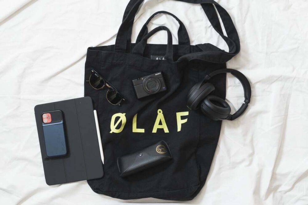 Olaf Hussein(オラフハンセン)のトートバッグの中身